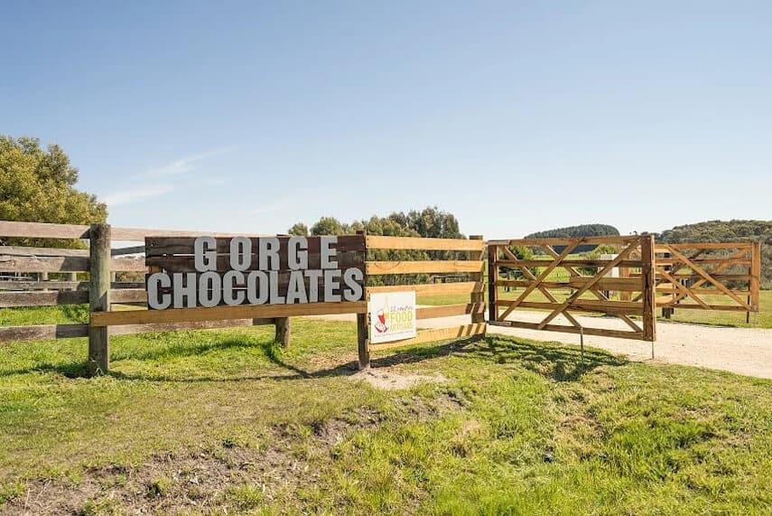 Gorge Chocolates Sign on the Farm Gate