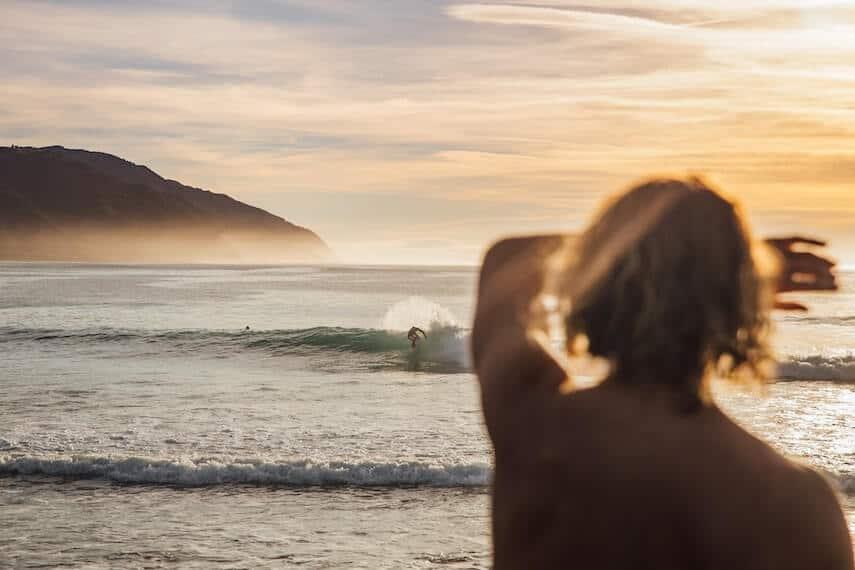 Surfing in Lorne