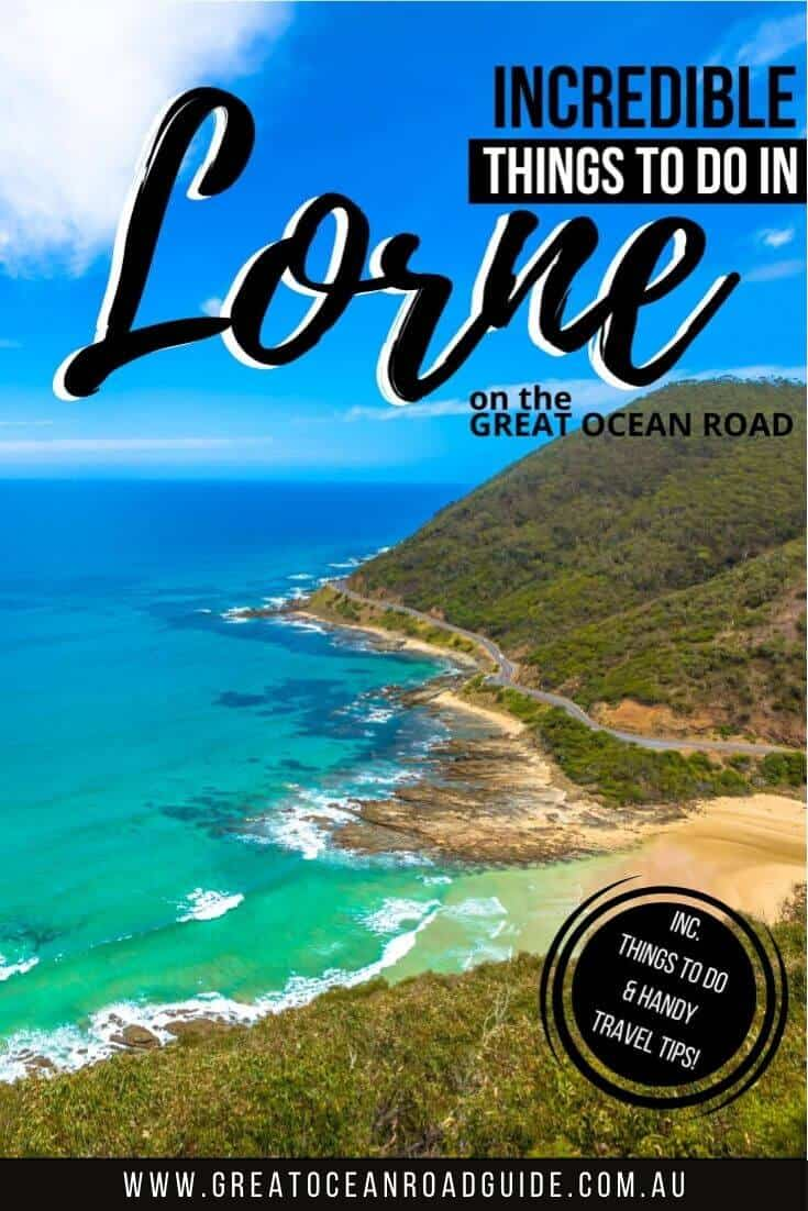 Things to do in Lorne on the Great Ocean Road Australia (pin image)