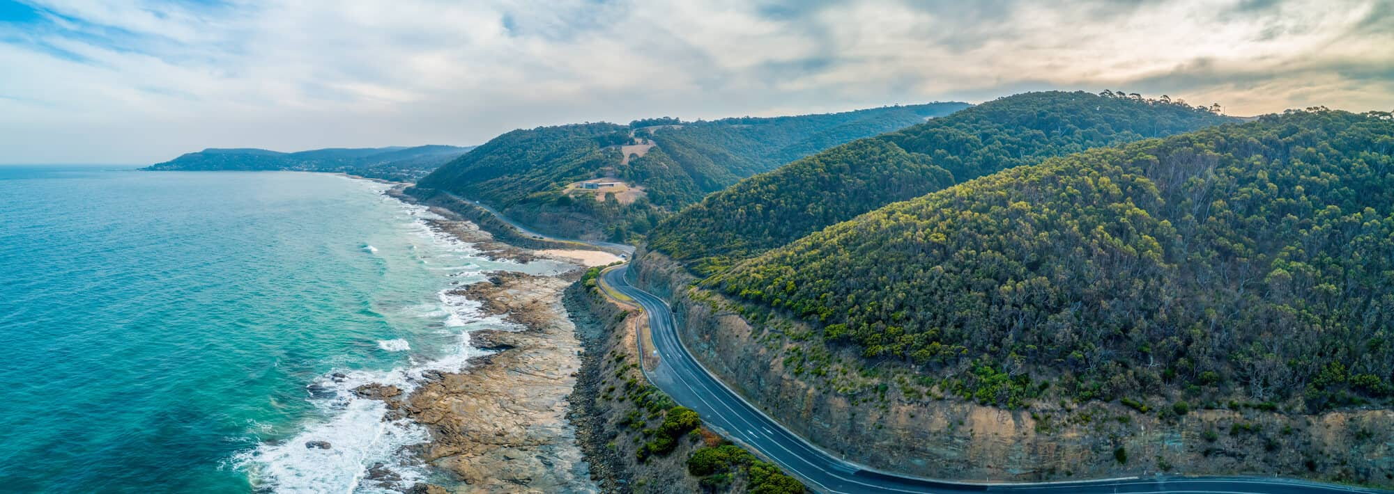 Guide to Touring The Great Ocean Road Header Image - Aerial View of the Great Ocean Road