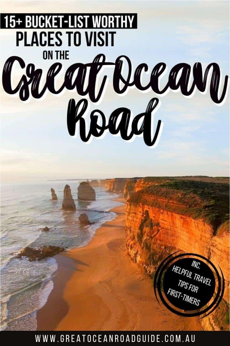 15+ Bucket-List Worthy Places to Visit on the Great Ocean Road Australia (Pin Image)