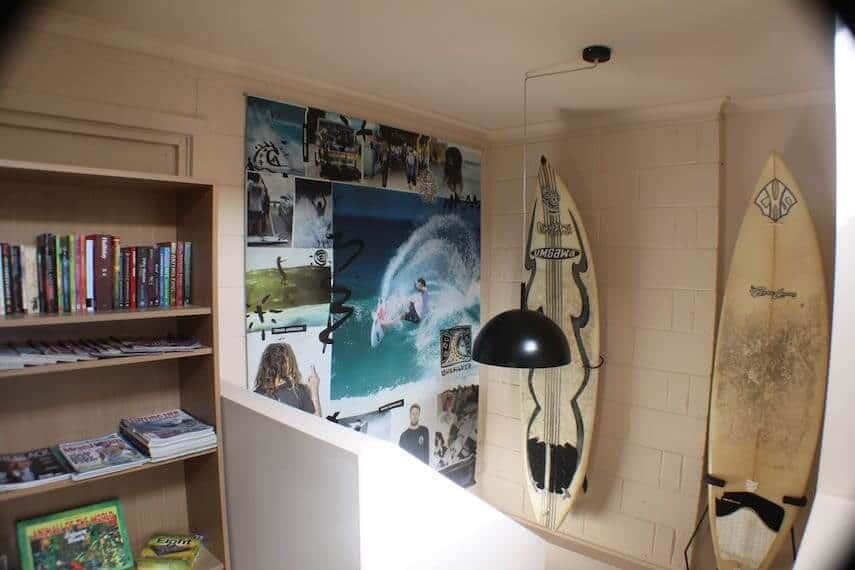 Interior of Surfers Shack